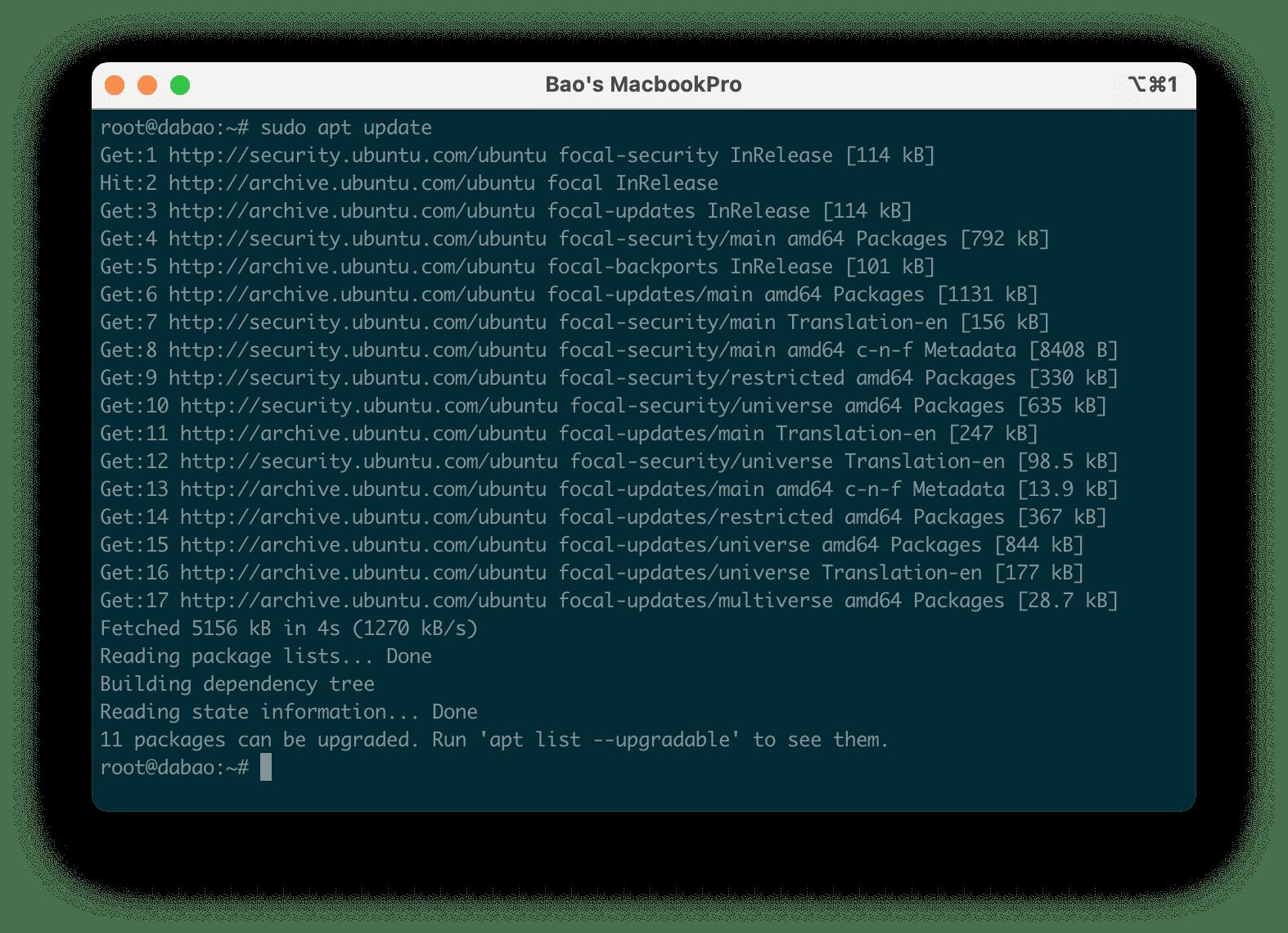 Liệt kê các gói có thể nâng cấp với apt trong Ubuntu - Ubuntu Update