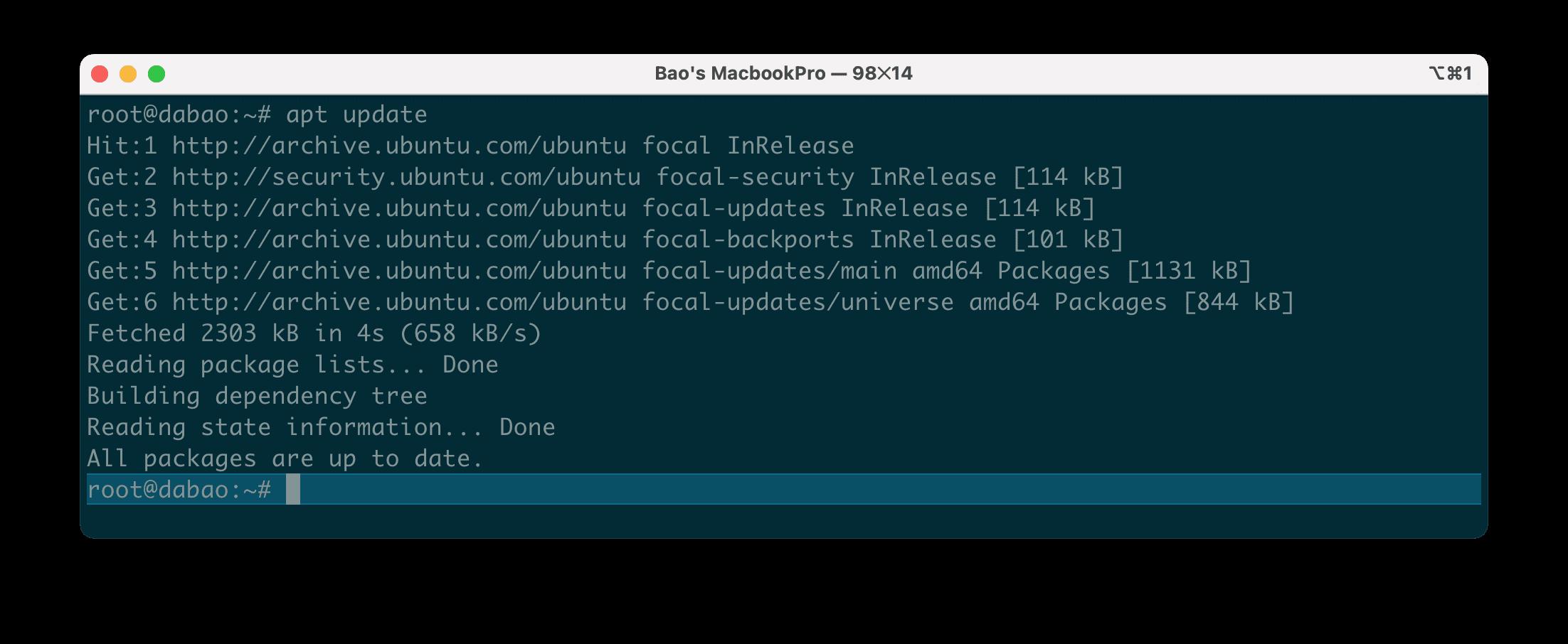 sự khác biệt giữa apt update vs apt upgrade trên hệ điều hành Ubuntu.